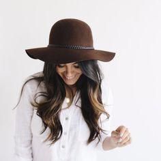 Annabella - Gigi Pip's  Brown Floppy Hat for Women