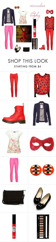 miraculous lady by polyvore-character-outfits on Polyvore featuring moda, Jane Norman, Tommy Hilfiger, J Brand, 7 For All Mankind, Dr. Martens, Warehouse, Forever 21, TheBalm and ladybug