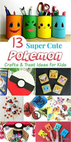 13 Super Cute Pokemon Crafts & Treat Ideas for Kids funstuff pokemon crafts pikachu 239113061452968371 Guzma Pokemon, Easy Pokemon, Pokemon Room, Pokemon Craft, Pokemon Party, Pokemon Super, Pokemon Gifts, Pokemon Funny, Arts And Crafts For Teens