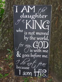 An awesome reminder and inspired by a customer this sign is hand painted on pine and shown here in black with white lettering, gray and white and pink and white also available. Lightly sanded for a vintage look. Rustic Home Interiors, Daughters Of The King, Hand Painted Signs, God Is Good, Christian Quotes, Christian Movies, Painting On Wood, Pallet Painting, Bible Quotes