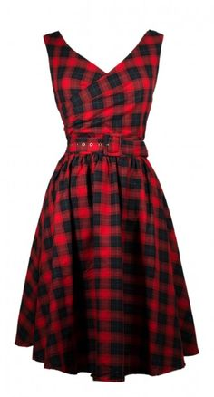 All eyes will be on you in the May 50s Swing Dress in Red and Navy. The checkered pattern is absolutely irresistible and attention grabbing.