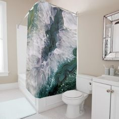 #Amethyst Abstract Shower Curtain - #Bathroom #Accessories #home #living