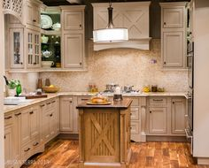 Warmth, grays, neutrals #Wellborn #modern #kitchen