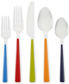 Fiesta Merengue 50-Pc Set with Steak Knives, Service for 8 - Flatware & Silverware - Dining & Entertaining - Macy's Bridal and Wedding Registry