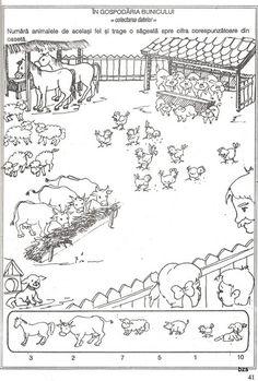 57 atividades de matemática para sala de aula - Como Fazer Animal Worksheets, Hidden Pictures, Activity Sheets, Printable Coloring Pages, Preschool Activities, Kids And Parenting, Farm Animals, Card Games, Vintage World Maps