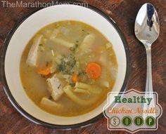 Healthy Chicken Noodle Soup :: TheMarathonMom.com