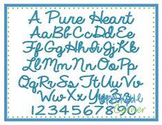 Applique Corner - A pure heart font (1, 1.5, 2, 2.5, 3, 3.5, 4)