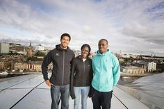 Top athletes Ryan Wilson, Christine Ohuruogu and James Dasaolu show they have a head for heights ahead of the Great North CityGames.