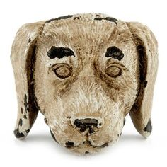 Add unique style to your cabinets, drawers, and more with Dog Head Knob. Featuring a floppy-eared resin dog head, this knob is the perfect way to give your life a little extra personalization and will look darling against any color furniture. Dog Furniture, Furniture Handles, Furniture Hardware, Painted Furniture, Coffee Shop Signs, Kitchen Cabinet Knobs, Dog Rooms, Drawer Knobs, Drawer Pulls