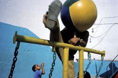 Alex Webb - Havana. Playing in Pioneer Park. 2002.