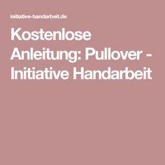 Kostenlose Anleitung: Pullover - Initiative Handarbeit