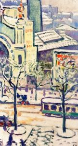 Avenue de Wagram in the Snow - Louis Valtat