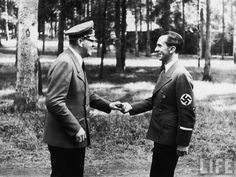 Hitler and Goebbels, the propaganda minister. Poland, July 25, 1944
