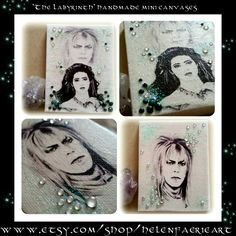 The Labyrinth inspired gifts by helenfaerieart  #thelabyrinth #goblinking #childhoodfilm #inspiration #Sarahlabyrinth #faery #Jareth #labyrinthfanart #canvasartist