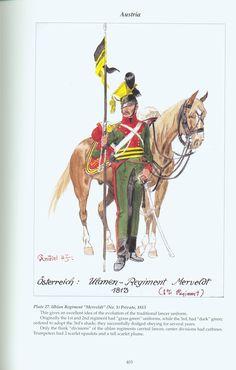"""Austria: Plate 27. Uhlan Regiment """"Merveldt"""" (No. l), Private, 1813"""