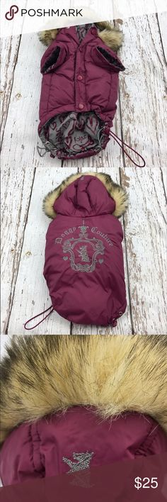 💕SALE💕Juicy Couture Down Jacket for Pup Adorable 💕Juicy Couture Down Jacket for Pup would fit a small dog Juicy Couture Jackets & Coats