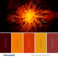 Color Palette Ideas from Orange Light Explosive Material Image