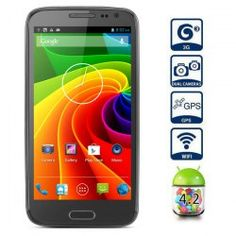 This phone will only work with GSM+WCDMA network Frequency: GSM 850/900/1800/1900MHz WCDMA 850/2100MHz Unlocked for Worldwide use, please check if your local area network is compatible with this phone  Highlights: Type: Touch screen phone  Color: Gray OS: Android 4.2  CPU: MTK6589 Quad Co... Click on Picture to go to Store
