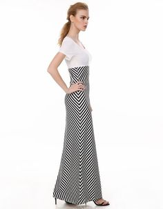 Stylish Ladies Women Casual O-neck Short Sleeve Striped Patchwork Dress