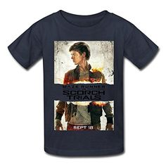 SOGA Girls Short Sleeve Tshirt The Scorch Trials Thomas Brodie Sangster Size M Navy