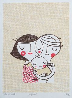 Really lovely illustration. Love Lisa Stubbs work and am the proud owner of one of her prints. Family Illustration, Illustration Art, Sketch Manga, Art Plastique, Illustrations Posters, Zentangle, Painting & Drawing, Screen Printing, Sketches