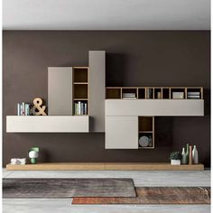 Minimalist 'Diana' Wall Unit by Dall'Agnese