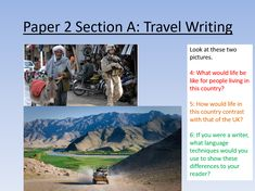 AQA English Language Paper 2 lesson that looks at and (summary writing, language analysis, retrieving key information) through two travel writing. Aqa English Language, Summary Writing, Life Is Like, Teaching Resources, Writer, Student, This Or That Questions, Country, Reading
