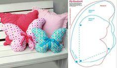 Adorable owl pillows via zatinatskaya Owl pillow via Butterfly Pillow Cat pillow Pillow with cute bear appliques Pillow with cute sheep appliques Apple shaped pillows Pillow with cute flip flop appliques Felt Crafts, Fabric Crafts, Sewing Crafts, Sewing Projects, Diy Crafts, Applique Pillows, Sewing Pillows, Diy Pillows, Pillow Ideas