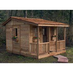 Cozy Cabin Cedar Playhouse - Outdoor Playhouses at Hayneedle