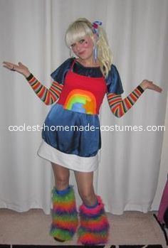 Coolest Hand-Made Rainbow Brite Costume... This website is the Pinterest of costumes