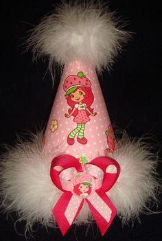 Strawberry Shortcake Custom Birthday Party Hat Favors by Asil328, $17.99
