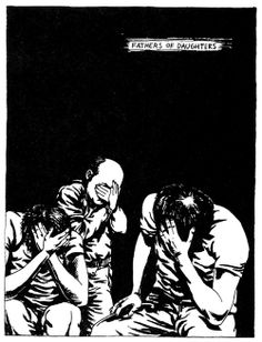 Raymond Pettibon punk artist; illustrations associated with a culture that thrives in distortion, anger, energy, noise and power