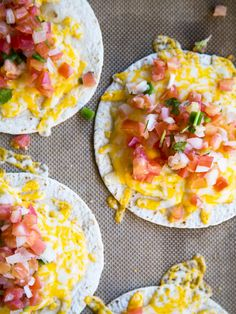 Pico de Gallo Cheese Crisps (because sometimes, you just want melted cheese)