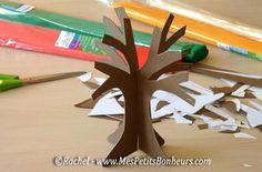 bricolage arbre 3D assemblage en volume