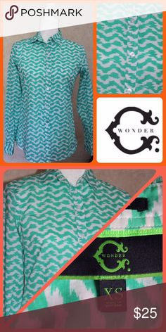 C. Wonder Spring Prep Top Wake up your early spring wardrobe with this fresh C. Wonder long sleeve top. The lightweight fabric is perfect for the days that start cool and have you rolling up your sleeve by lunch. Slim fit style. Excellent Condition!! C. Wonder Tops