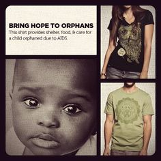 A little help can bring a lot of hope to a child who's lost everything.     This week's shirts help to provide shelter, food, & care to precious orphans in Rwanda.    Show them HOPE now ➔ www.sevenly.org/Dale