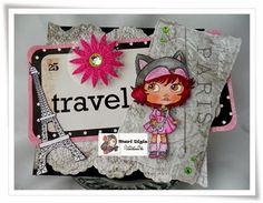 """DT Antoinette with stamps """"Touca de raposinha"""" http://maridigischallenge.blogspot.com.br"""