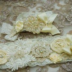 Garter set made for Grace Wedding Garters, Garter Set, Heavenly, Custom Design, Palette, Colour, Bride, Fit, Style