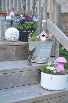 In these DIY garden projects, you can use surplus or infrequently used stuff you have at your home. Small garden projects are the best for these trials.