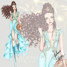 The Game of Thrones Fashion Collection by Guillermo Meraz. Margaery Tyrell played by cute @officialnataliedormer.