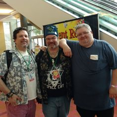 Popped down to the #AtlantaComicCon today to do a panel on weird westerns with author JD Jordan. A fun panel with a good crowd. Plus, hanging out with Mike Faber and Mike Gordon, co-hosts of the ESO podcast, is always a nice bonus. Love these guys.
