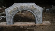 Hand carved granite arch for my WFO. The stone was from scrap off of a previous project.