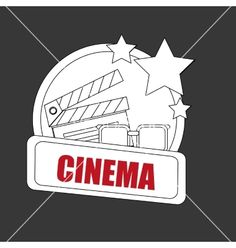 Cinema icon design vector image on VectorStock Icon Design, Adobe Illustrator, Vector Free, Cinema, Concept, Illustration, Image, Movie Theater, Movies
