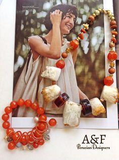 Beautiful Jewelry Design by A&F Peruvian Designers. Quartz.Agate.Beautiful Bracelet.Summer Collection 2016. #ChunkyNecklace#AnthropologieMagazine#BeautifulNecklace#PeruvianDesigners#JoyeriaHechaaMano#PeruFashion#FashionJewelry#HandMadeJewelry#BohemianJewelry#TribalStyle#BohoChic#DisenadoresPeruanos#Quartz#Agate#GenuineStones#JewelryforSale#JewelryyAccessories#TribalJewelry#ByGlouJewelry#