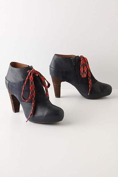 Argyle Lace Booties - anthropologie.com
