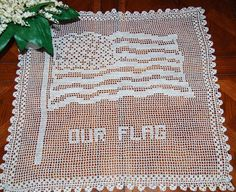 USA Crochet Flag by CheekyVintageCloset on Etsy, $12.50