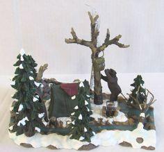 Department 56 Village Accessories Mill Creek Campsite 52894 EUC no Box Polaroid, Mill Creek, Department 56, Christmas Villages, Campsite, Houses, Box, People, Painting