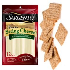 String Cheese and Crackers: Cheese and crackers may be an party-food staple, but its also a good appetizer to pair with your workout. Cheese brings the protein and calcium, while… Snacks For Work, Healthy Work Snacks, Diet Snacks, Vegan Snacks, Healthy Treats, Get Healthy, Snack Recipes, Healthy Eating, Healthy Recipes
