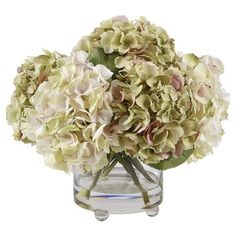 I pinned this Emilie Faux Hydrangea Arrangement from the Powder Room Refresh event at Joss and Main!