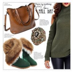 Fall day by duma-duma on Polyvore featuring Fall and GREEN